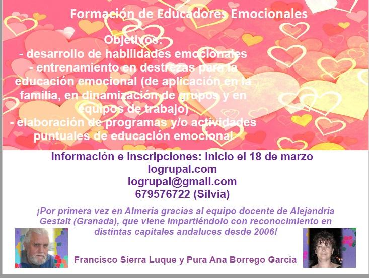 cartel para el curso de Educadores Emocionales