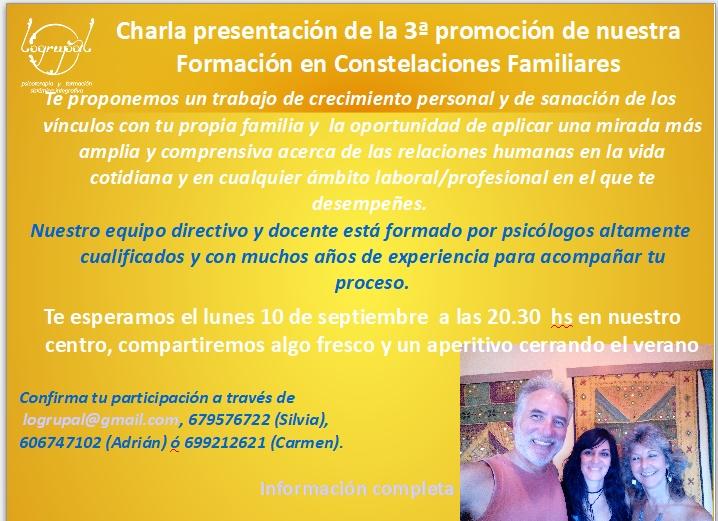 charla informativa 3ª promoción de la formación en Almería