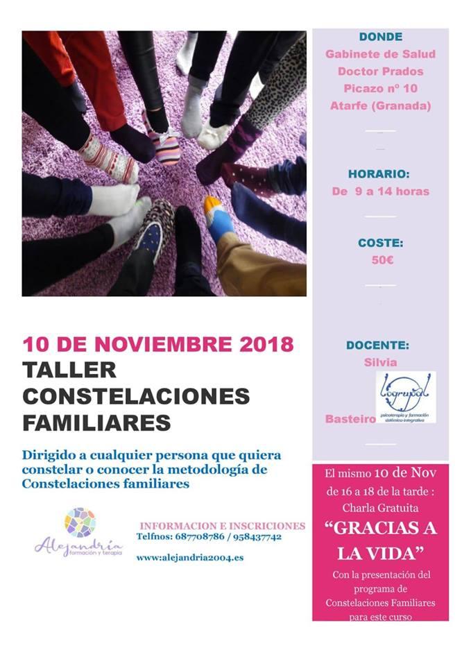 cartel de la charla de presentación de la 3º promoción y del 1º taller del curso 2018 2019