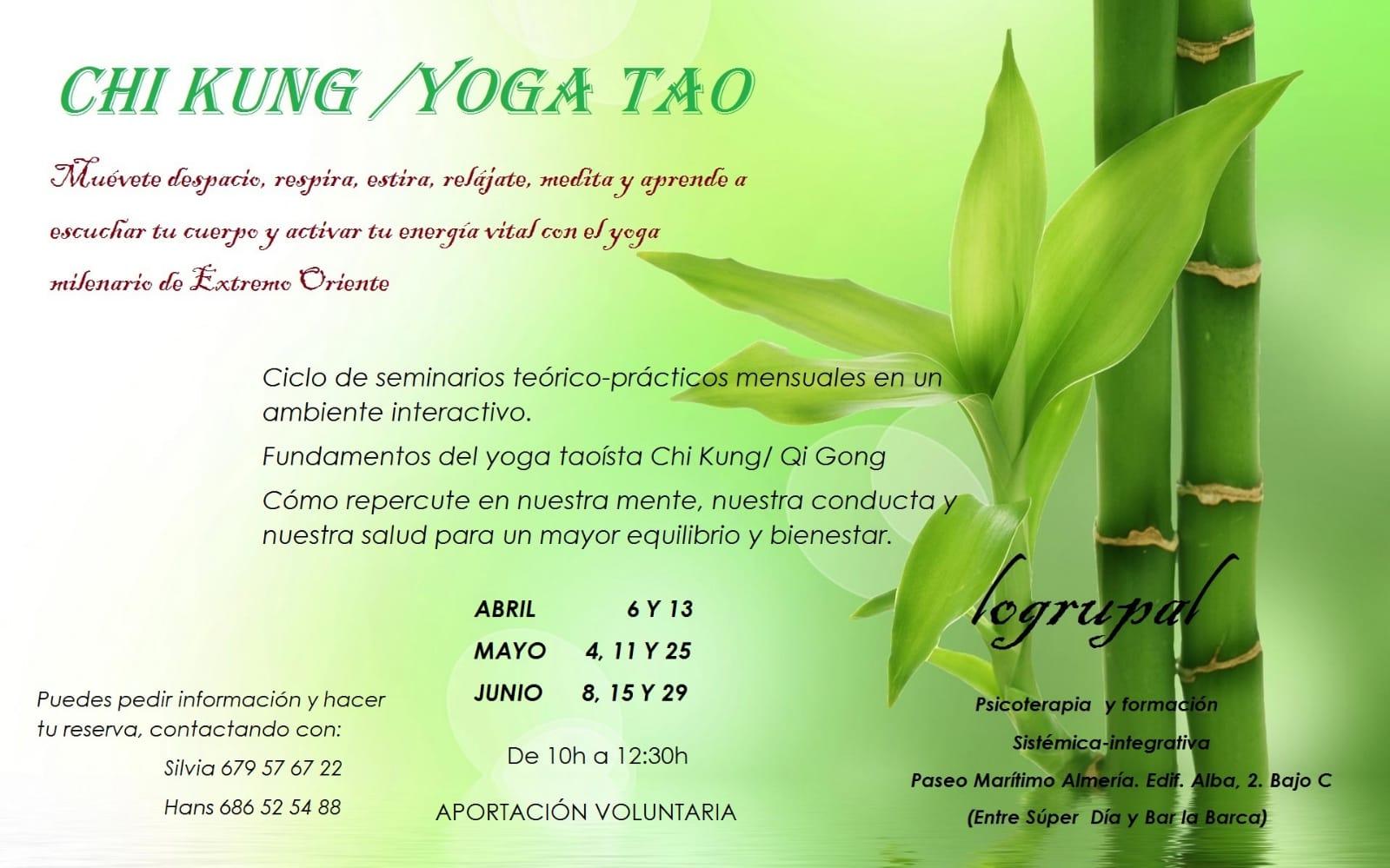 Chi Kung clases de ABRIL a JUNIO 2019